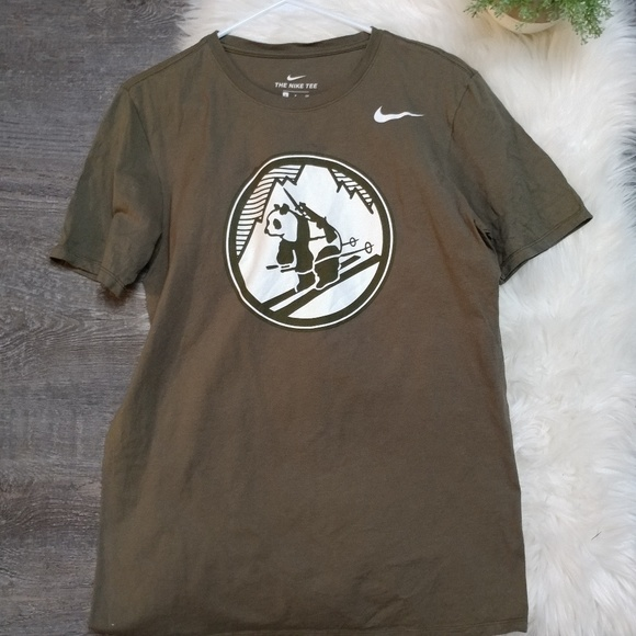 timeless design 0756b aa8c4 Nike Olive Army Black Knights Pando Commando T